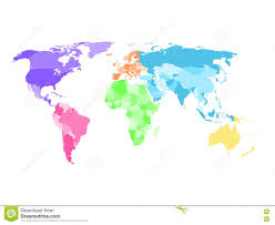 North And South America Map Blank by Blank Simplified Political Map Of World With Different Colors Of