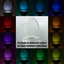 16 color motion activated led toilet sensor night light bowl