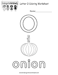 letter o coloring worksheet free kindergarten english worksheet
