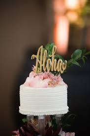 aloha cake topper rose gold wedding wedding cake topper