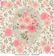 Shabby Chic Rose by Cute Seamless Shabby Chic Pattern Roses Stock Vector 313724786