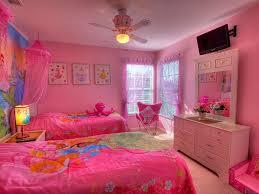 bedroom disney princess room decor with pink comfort bed also