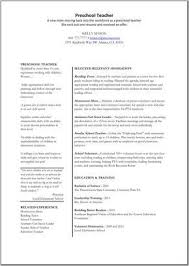 preschool resume template preschool assistant resume use this professional assistant