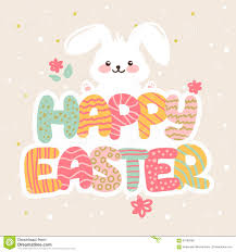 vector happy easter greeting card design with funny cartoon