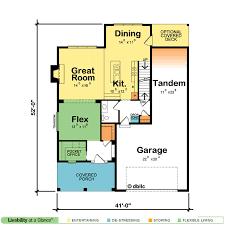 Garage Size Windsor Cottage 42226 Craftsman Home Plan At Design Basics