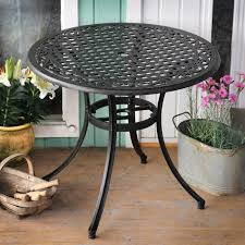 Cast Aluminium Outdoor Furniture by Hannah 90cm Round Cast Aluminium Garden Table Lazy Susan