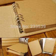 binder photo album diy blank photo album ring binder scrapbook leaf vintage