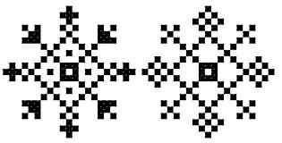 cross stitch snowflake free pattern crafts unleashed