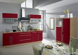 red and grey kitchen cabinets modern home design