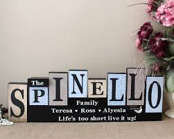 Family Wood Sign Home Decor Personalised Family Name Letter Blocks Family Christmas Gift