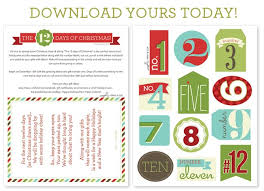 the 12 days of tags free printable somewhat simple