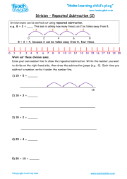 division repeated subtraction 1 teach my kids