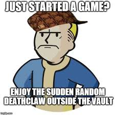 Vault Boy Meme - it happened once imgflip