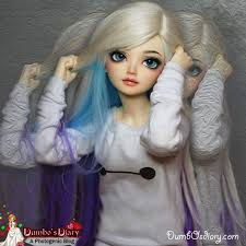 pretty barbie doll dye hair