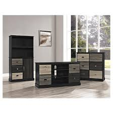 Black Storage Cabinet Blackburn 6 Door Storage Cabinet Black Ameriwood Home Target