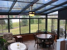 Four Seasons Sunroom Shades Straight Eave Glass Aluminum Roof Design Vanguard Home