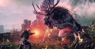 wild hunt witcher 3 werewolf the witcher 3 nameless fight morkvarg the calm before the storm