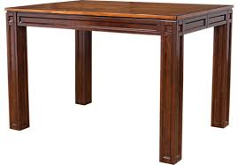 adelson chocolate brown square counter height dining table casual