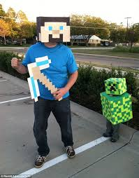 Minecraft Costume The Best Halloween Costumes Ever Daily Mail Online