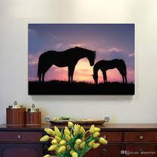 equine home decor 2018 1 panels romantic black horse home decor wall art picture