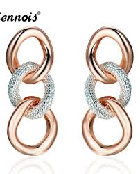 earrings for viennois new twisted circles stud earrings for women