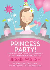 Kids Birthday Party Invitation Card Free Princess Birthday Party Invitations Best Free Princess