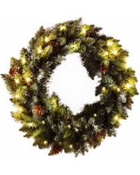 amazing deal on 21 in faux pine wreath with battery operated