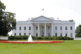 the white house view on sunny day