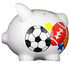 sports themed piggy banks sports themed mini piggy bank decorated with baseball football
