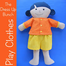 easy doll clothes patterns shirt shorts and skirt free