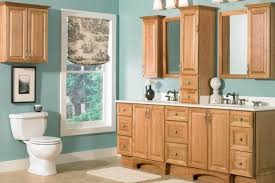 Bathroom Furniture Oak Bathroom Bathroom Cabinets Ideas With Oak Grey And Yellow Corner