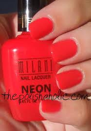 the polishaholic milani neon polishes