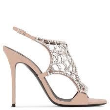 lyst jimmy choo elaine crystal embellished satin sandals in metallic