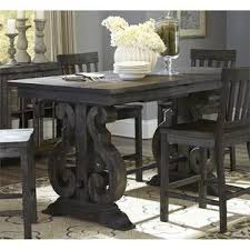 magnussen bellamy dining table magnussen bellamy counter height dining table in weathered pine