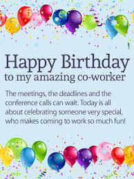 to my amazing co worker happy birthday wishes card birthday