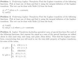 laplace transform table calculator solved problem 1 performing laplace transforms find the