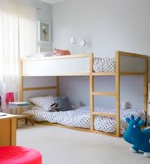 Ikea Bunk Beds Kids Transitional With Beige Carpet Bouncy Toy - Ikea bunk bed room ideas