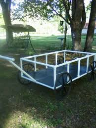 yard cart made from pvc pipe and wheelchair wheels joy u0027s