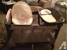 Pink And Brown Graco Pack N Play With Changing Table Changing Tables Pink And Brown Graco Pack N Play With Changing