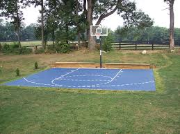 Build A Basketball Court In Backyard How Much Does It Cost To Install A Backyard Basketball Court