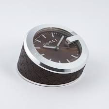 gucci clock brown leather gucci touch of modern