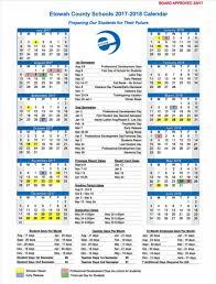 2017 18 school calendar etowah county schools
