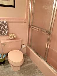 Pink And Brown Bathroom Ideas Ideas To Update A Pink Bathroom Carpet Toilet Tub Countertop