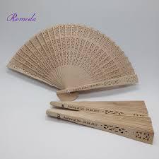 sandalwood fan hot selling wedding custom engraving sandalwood fan