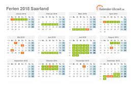 Kalender 2018 Mit Feiertagen Saarland Ferien Saarland 2018 Ferienkalender Zum Ausdrucken