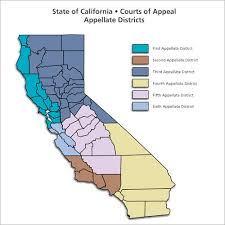 ca map district courts of appeal regional map dca