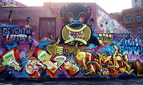 graffiti murals bikes books a little music 7th letter e mkt 0823