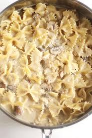 easy pasta recipes creamy mushroom pasta life as a strawberry