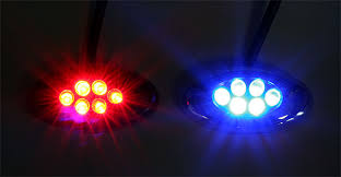 oval led accent light module w 6 leds chrome 21 lumens led
