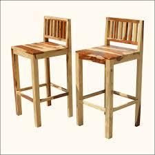 rustic low back wood counter bar stools decofurnish